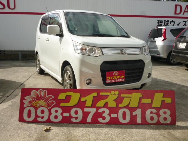 沖縄の中古車 スズキ ワゴンRスティングレー 車両価格 34万円 リ済込 2013(平成25)年 13.1万km パールホワイト