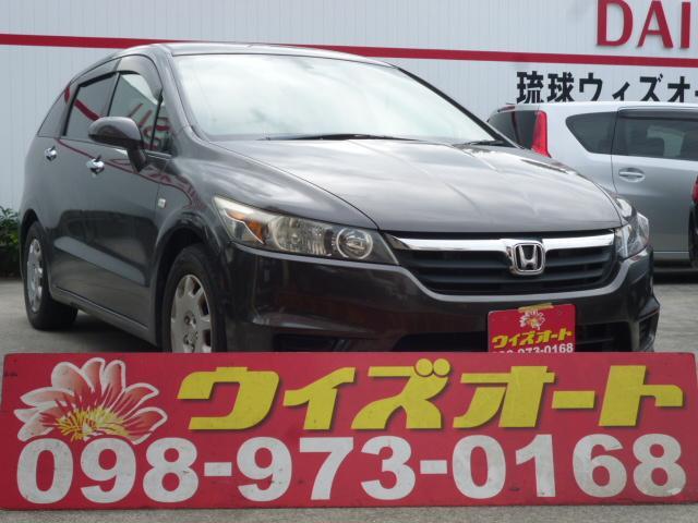 沖縄の中古車 ホンダ ストリーム 車両価格 17万円 リ済込 2008(平成20)年 12.5万km ガンM