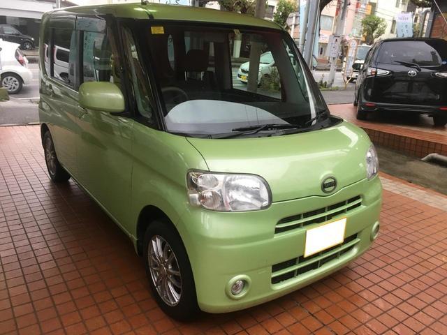 沖縄の中古車 ダイハツ タント 車両価格 60万円 リ済込 平成23年 9.5万km Lグリーン