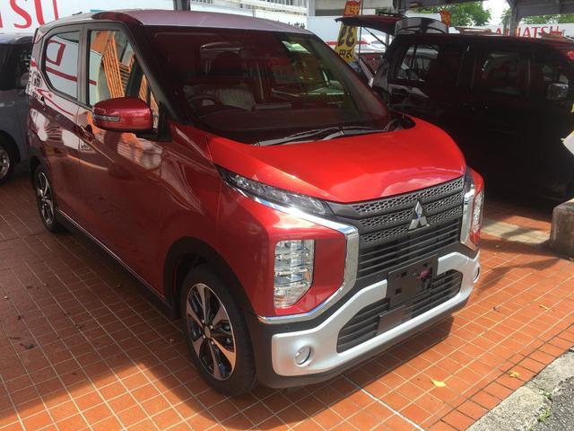 沖縄の中古車 三菱 eKクロス 車両価格 155.5万円 リ済別 新車  レッドM