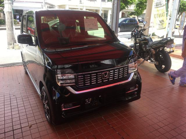 沖縄の中古車 ホンダ N-WGNカスタム 車両価格 161.7万円 リ済別 新車  ブラックM