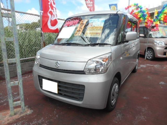 沖縄の中古車 スズキ スペーシア 車両価格 83万円 リ済込 平成25年 5.1万km シルキーシルバーメタリック
