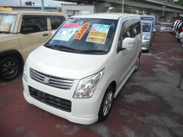 沖縄の中古車 スズキ ワゴンR 車両価格 68万円 リ済込 平成23年 7.6万km パールホワイト