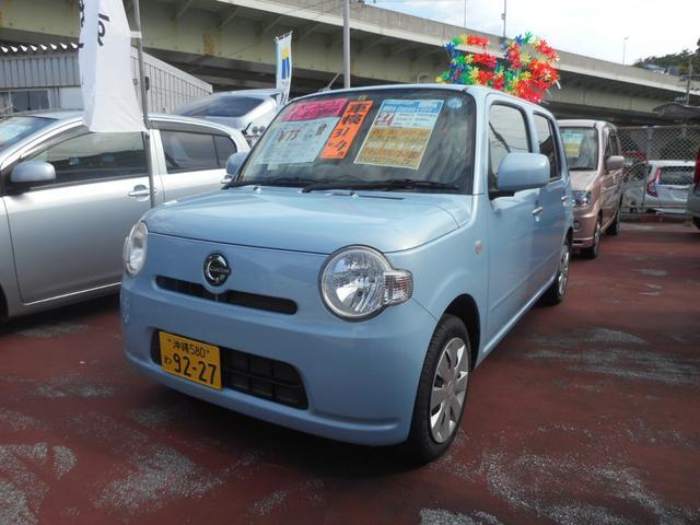 沖縄の中古車 ダイハツ ミラココア 車両価格 70万円 リ済込 平成27年 8.1万km ミストブルーマイカメタリック