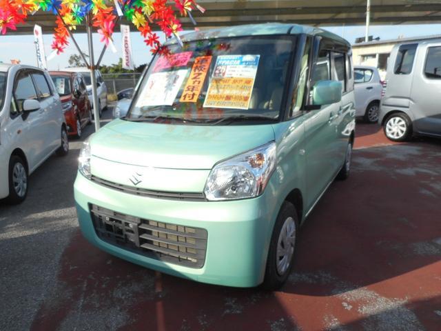 沖縄の中古車 スズキ スペーシア 車両価格 80万円 リ済込 平成25年 7.0万km Lグリーン