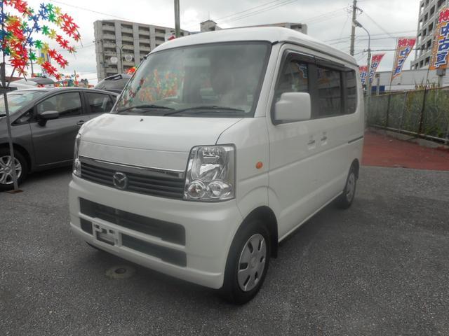 沖縄の中古車 マツダ スクラムワゴン 車両価格 68万円 リ済込 平成25年 9.6万km パールホワイト