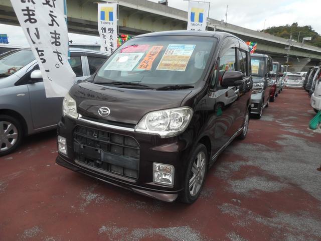 沖縄の中古車 ダイハツ タントエグゼ 車両価格 45万円 リ済込 2010(平成22)年 9.1万km ブラウンM