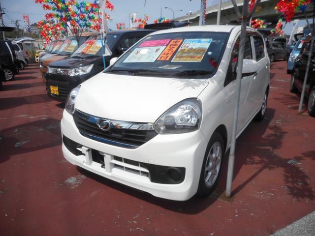 沖縄の中古車 ダイハツ ミライース 車両価格 43万円 リ済込 2014(平成26)年 7.3万km パールホワイトIII