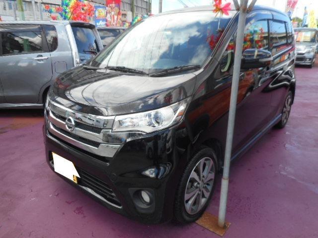 沖縄の中古車 日産 デイズ 車両価格 77万円 リ済込 2013(平成25)年 8.4万km ブラック
