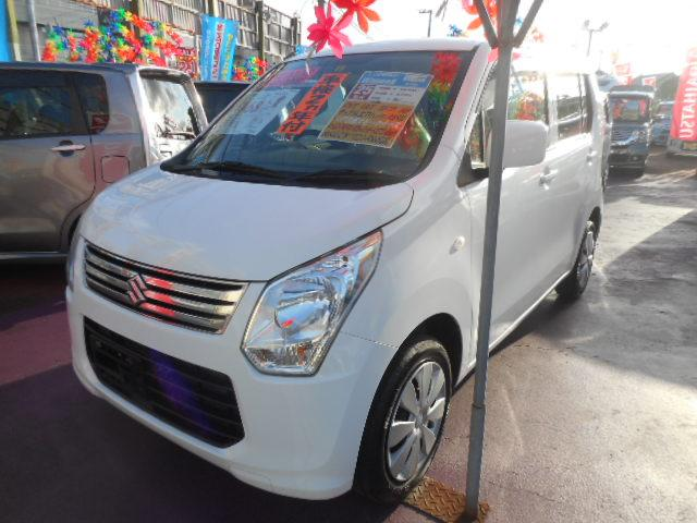 沖縄の中古車 スズキ ワゴンR 車両価格 63万円 リ済込 2013(平成25)年 3.7万km スペリアホワイト