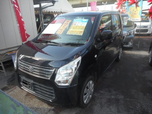 沖縄の中古車 スズキ ワゴンR 車両価格 67万円 リ済込 2013(平成25)年 7.0万km ブルーイッシュブラックパール3
