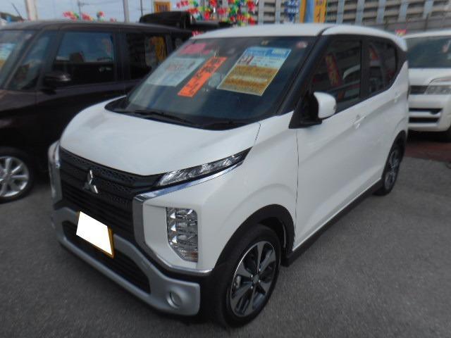 沖縄の中古車 三菱 eKクロス 車両価格 148万円 リ済込 2019(平成31)年 0.1万km ホワイトパール