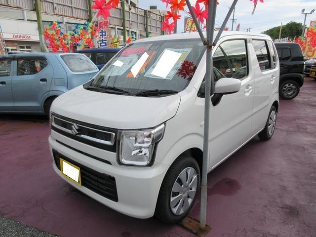 沖縄の中古車 スズキ ワゴンR 車両価格 120万円 リ済込 2020(令和2)年 8km ピュアホワイトパール