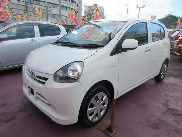 沖縄の中古車 ダイハツ ミライース 車両価格 48万円 リ済込 2013(平成25)年 7.5万km ホワイト