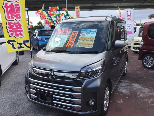 沖縄県の中古車ならeKスペースカスタム カスタムG e-アシスト