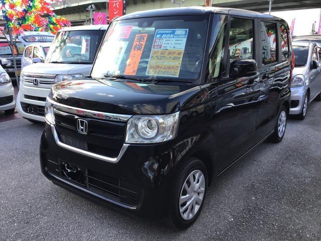 沖縄の中古車 ホンダ N-BOX 車両価格 127万円 リ済込 2018(平成30)年 2.2万km クリスタルブラックパール