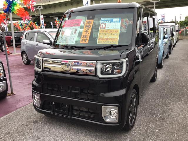 沖縄の中古車 ダイハツ ウェイク 車両価格 127万円 リ済込 2016(平成28)年 4.1万km ブラックマイカメタリック