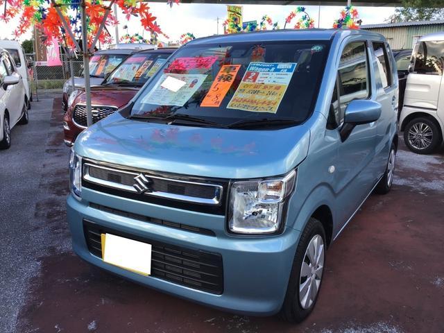 沖縄の中古車 スズキ ワゴンR 車両価格 108万円 リ済込 2020(令和2)年 1.1万km フィズブルーパールメタリック