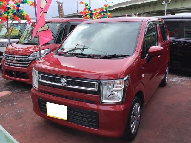 沖縄の中古車 スズキ ワゴンR 車両価格 103万円 リ済込 2020(令和2)年 3.9万km フェニックスレッドパール