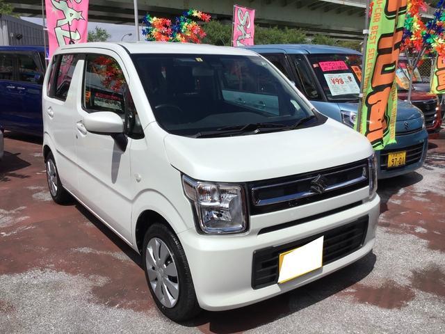 沖縄の中古車 スズキ ワゴンR 車両価格 108万円 リ済込 2020(令和2)年 0.7万km ピュアホワイトパール