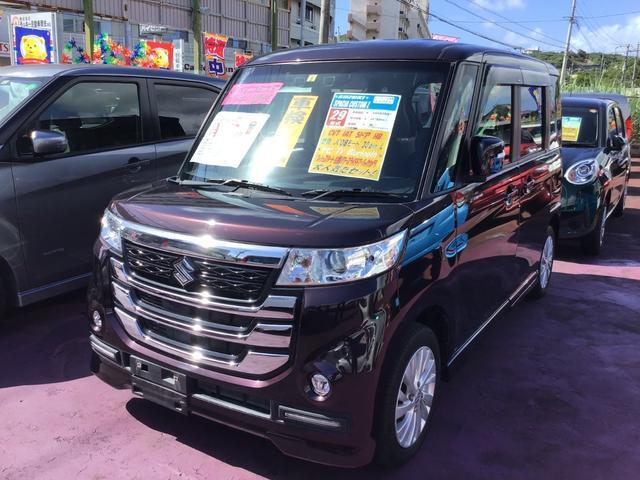 沖縄県の中古車ならスペーシアカスタムZ ベースグレード デュアルカメラブレーキサポート 純正ナビ/TV/DVD/Bluetooth バックモニター 左側パワースライドドア