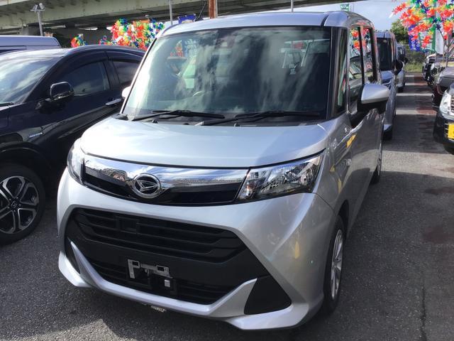沖縄県の中古車ならトール X SAII 衝突被害軽減システム ナビ/DVD/Bluetooth バックカメラ ETC 左側パワースライドドア