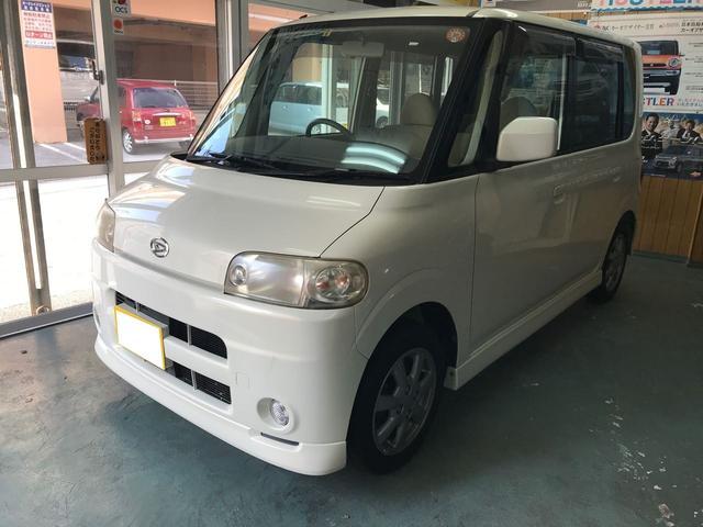 沖縄県那覇市の中古車ならタント X 純正アルミ CD パールホワイト