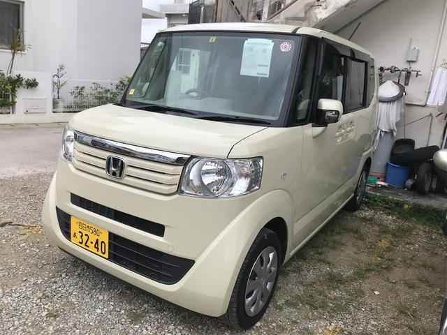 沖縄県の中古車ならN-BOX G CVT AC 両側スライドドア 4名乗り オーディオ付