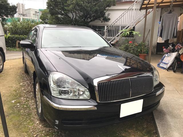 沖縄の中古車 日産 プレジデント 車両価格 75万円 リ済込 平成21年 19.2万km スーパーブラック