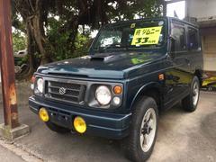沖縄の中古車 スズキ ジムニー 車両価格 33万円 リ済込 平成9年 17.0万K DグリーンM