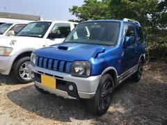 沖縄の中古車 スズキ ジムニー 車両価格 23万円 リ済込 平成14年 19.4万K キプロスブルーメタリックII