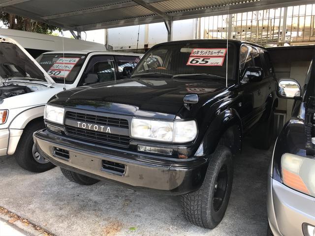 沖縄の中古車 トヨタ ランドクルーザー80 車両価格 65万円 リ済込 1993(平成5)年 24.2万km ブラック