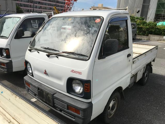 沖縄県の中古車ならミニキャブトラック 4速MT エアコン 4WD 三方開