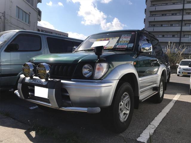 沖縄県浦添市の中古車ならランドクルーザープラド RX ルーフレール ディーゼルターボ