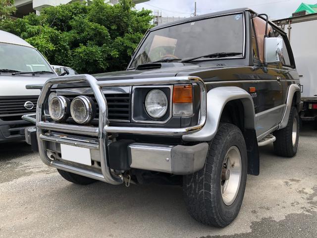 沖縄の中古車 三菱 パジェロ 車両価格 39万円 リ済込 1990(平成2)年 20.6万km ブラック