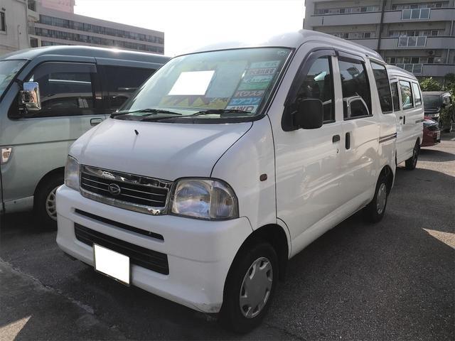 沖縄の中古車 ダイハツ ハイゼットカーゴ 車両価格 23万円 リ済込 2003(平成15)年 4.8万km ホワイト
