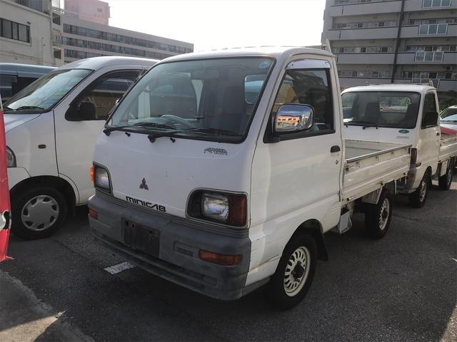 沖縄県浦添市の中古車ならミニキャブトラック  5速マニュアル エアコン パワステ 4WD 三方開