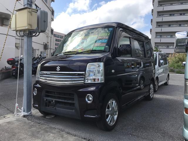 沖縄県浦添市の中古車ならエブリイワゴン PZターボ キーレス アルミホイール 両側パワースライドドア ターボ車