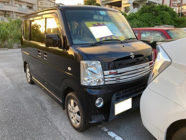 沖縄の中古車 スズキ エブリイワゴン 車両価格 39万円 リ済込 2010(平成22)年 13.6万km ブラック