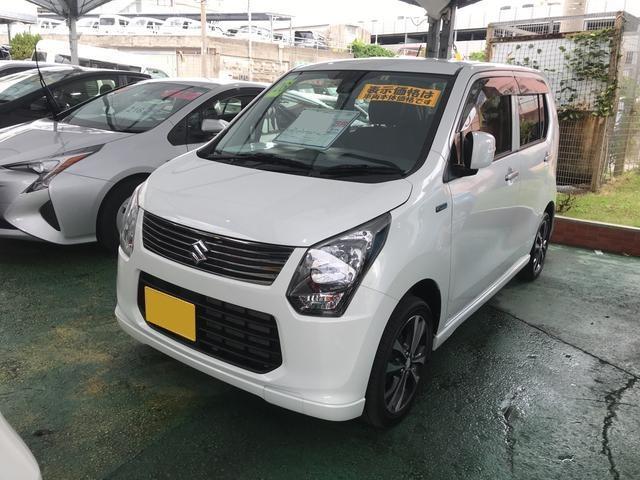 沖縄の中古車 スズキ ワゴンR 車両価格 108万円 リ済別 平成26年 3.9万km パール