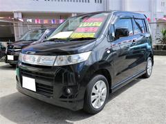 沖縄の中古車 スズキ ワゴンRスティングレー 車両価格 48万円 リ済込 平成22年 9.4万K ブルーイッシュブラックパール3