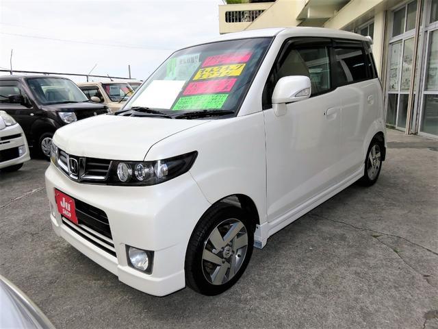 沖縄県の中古車ならゼストスパーク W スマートキー ナビ TV アルミ フルエアロ 1年保証