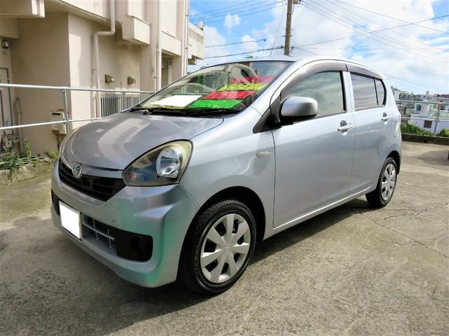 沖縄県の中古車ならミライース LSAエコアイドル レーダーブレーキサポートTVナビ2年保証