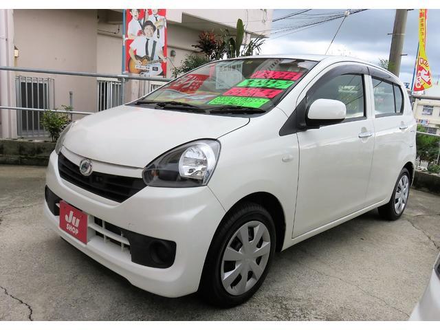 沖縄の中古車 ダイハツ ミライース 車両価格 41万円 リ済込 2015(平成27)年 8.3万km ホワイト