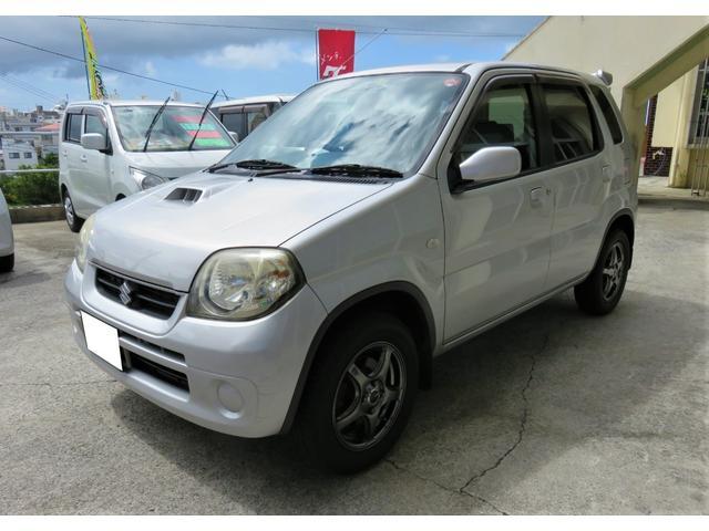 沖縄県の中古車ならKei Bターボ キーレス リアスポイラー アルミホイル