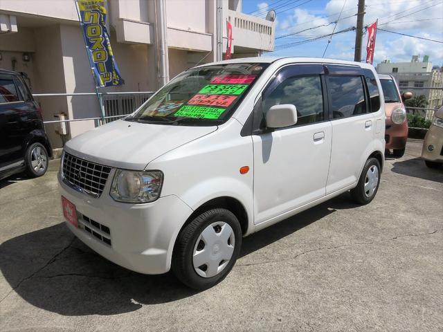 沖縄の中古車 三菱 eKワゴン 車両価格 38万円 リ済込 2012(平成24)年 9.9万km ホワイトパール