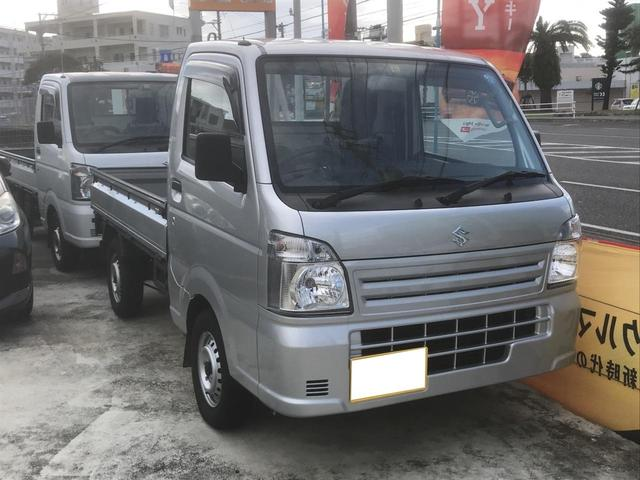 沖縄県の中古車ならキャリイトラック KCエアコン・パワステ 5速マニュアル 4WD 三方開