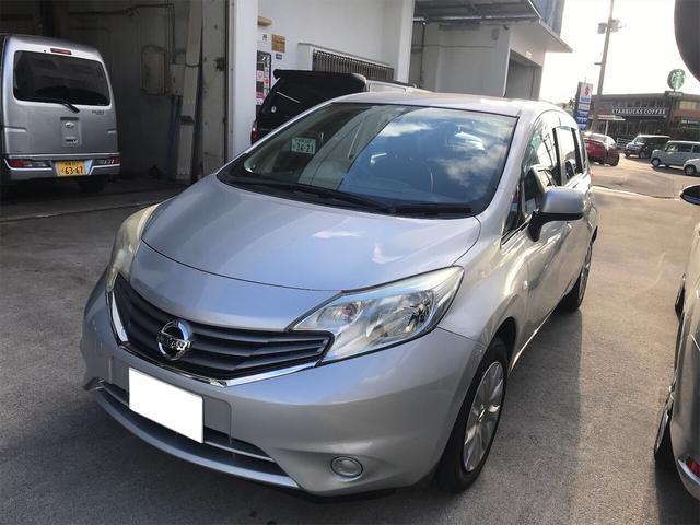 沖縄の中古車 日産 ノート 車両価格 35万円 リ済込 2013(平成25)年 7.8万km シルバー