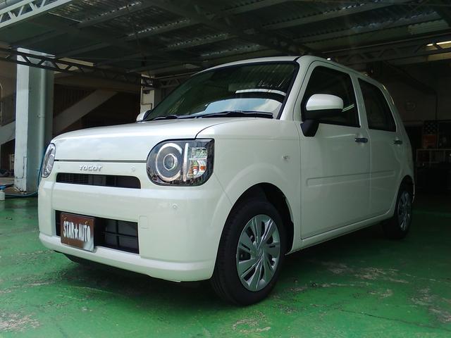 沖縄の中古車 ダイハツ ミラトコット 車両価格 113万円 リ済込 平成30年 3km パールホワイト