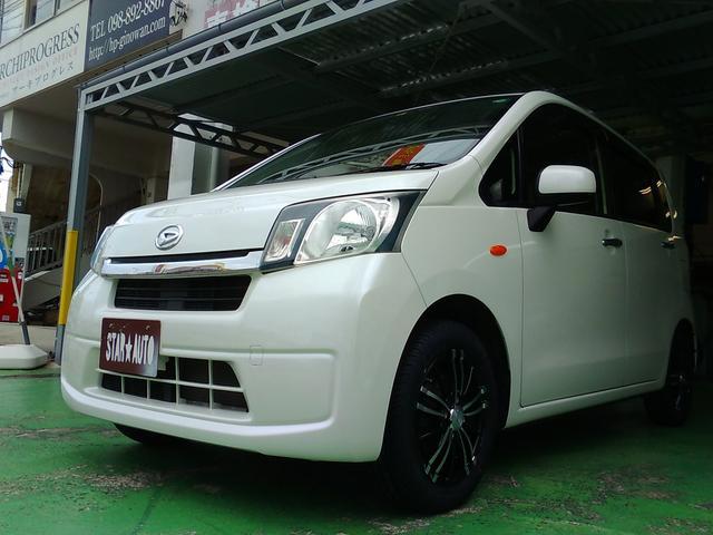 沖縄の中古車 ダイハツ ムーヴ 車両価格 58万円 リ済込 平成25年 4.4万km パールホワイト